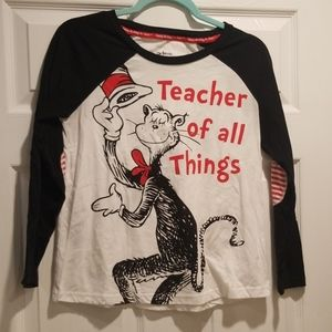 DR SEUSS cat in the hat shirt